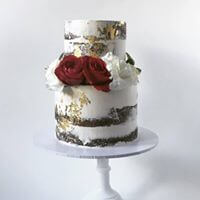 2-tier-naked-chocolate-engagement-cake